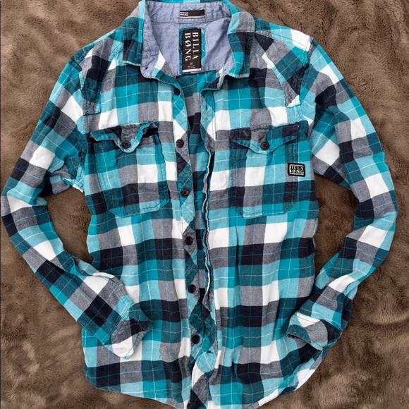 01094ca297 Billabong Tops - Billabong shirt button down checkered plaid M vans